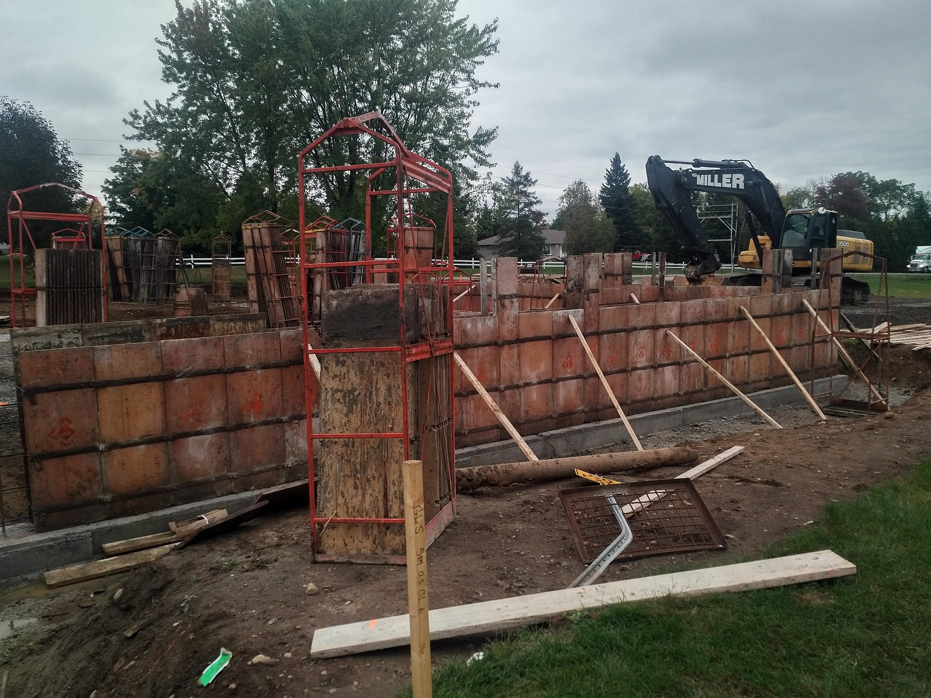 Foundation wall assembly