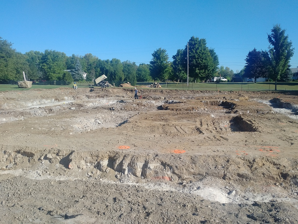excavation completed, ready for forms