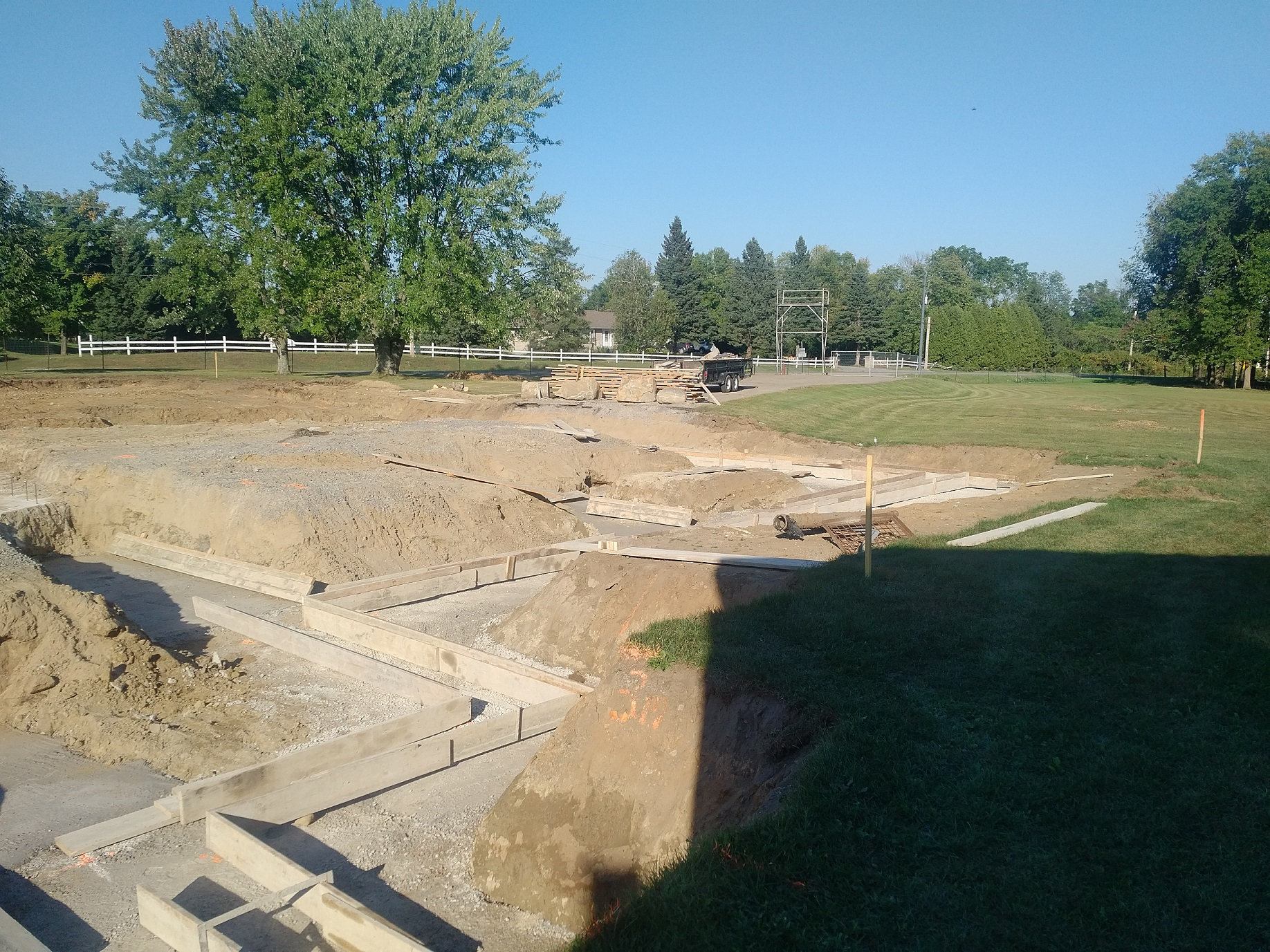 forms for footings in place