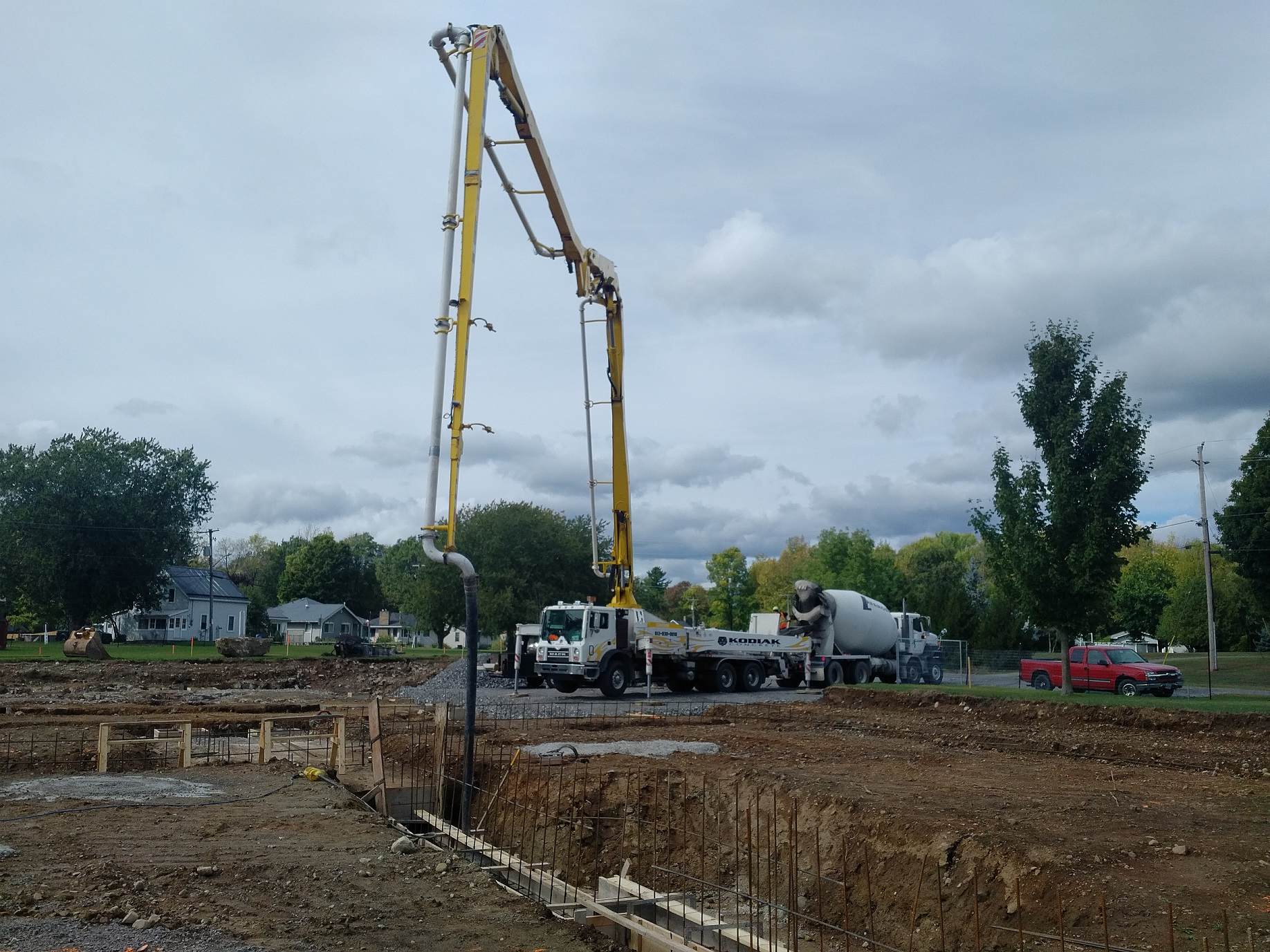 pouring concrete for footings