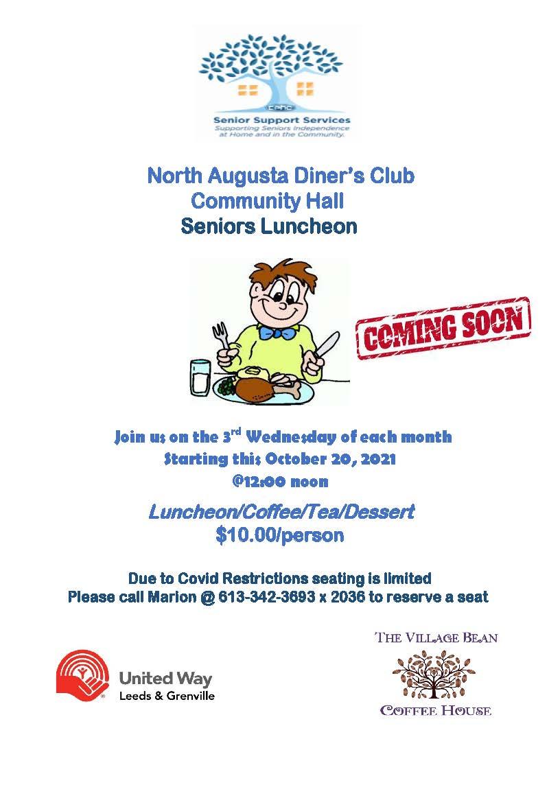 CPHC Diners Club Luncheon @ North Augusta Community Hall | North Augusta | Ontario | Canada