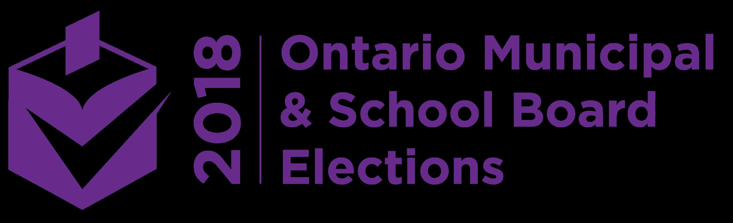 ontario municipal & school board elections logo