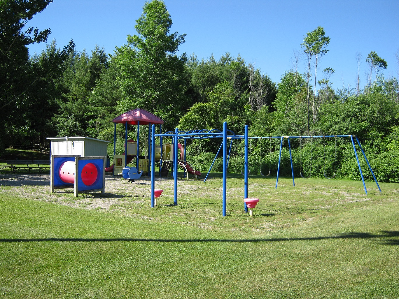 play structures and swings
