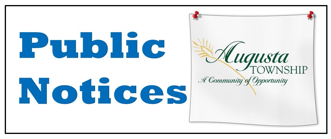 banner that says public notices and the augusta logo