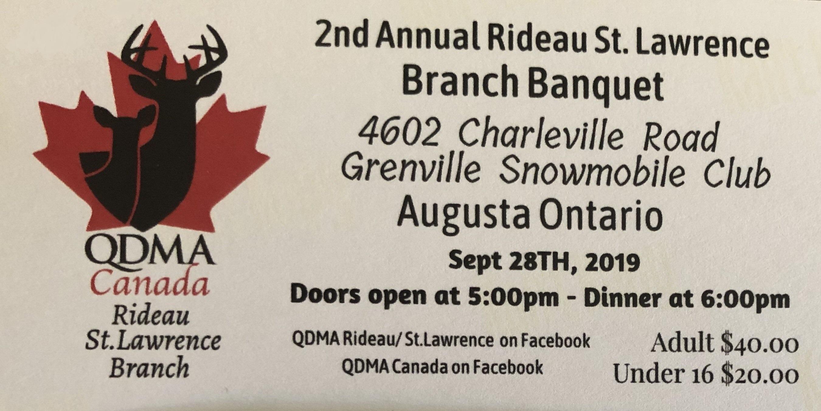 Quality Deer Management Association Banquet @ Grenville Snowmobile Club | Ontario | Canada
