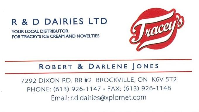 R&D Dairies Ltd. business card