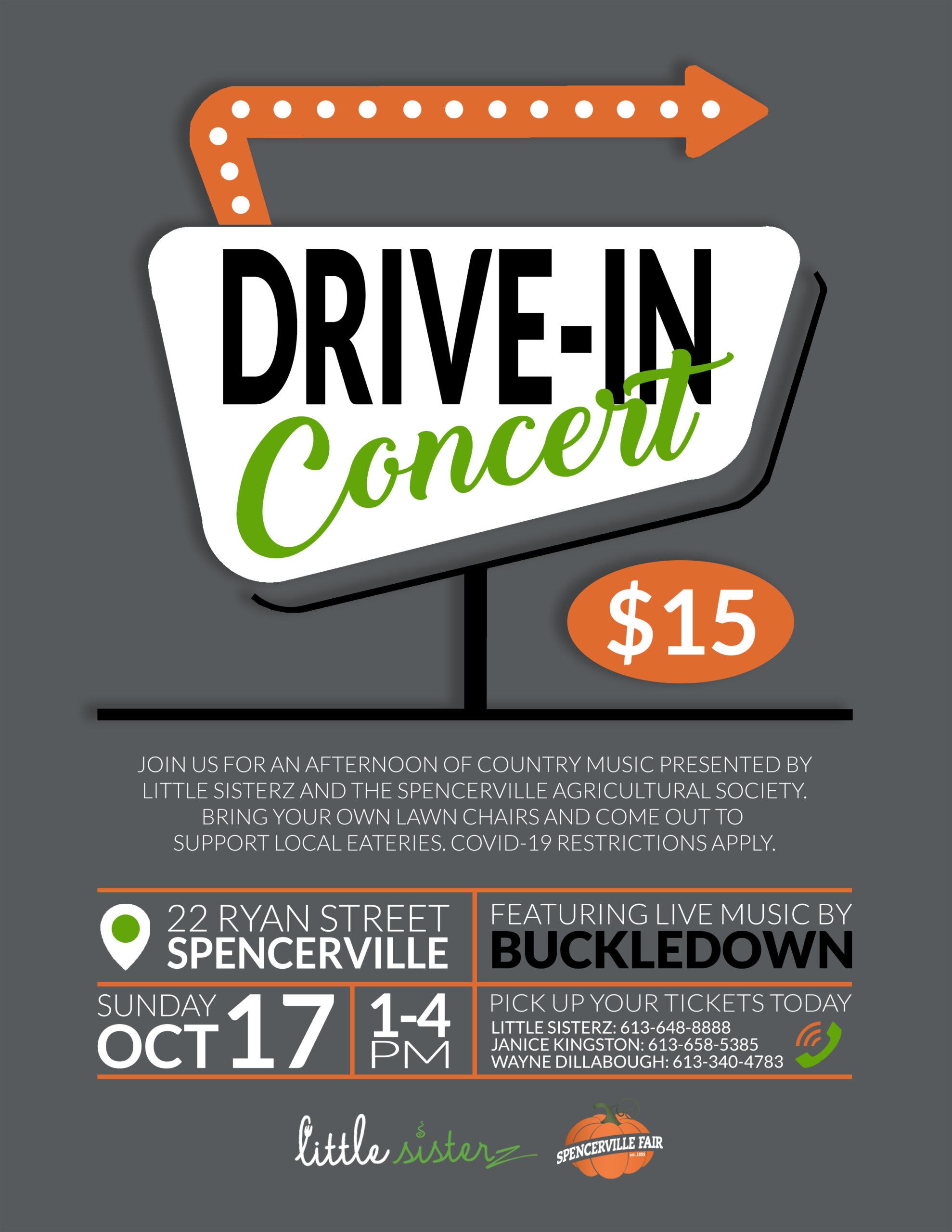 Drive-In Tailgate Concert (Spencerville Fair Event) @ Spencerville | Ontario | Canada