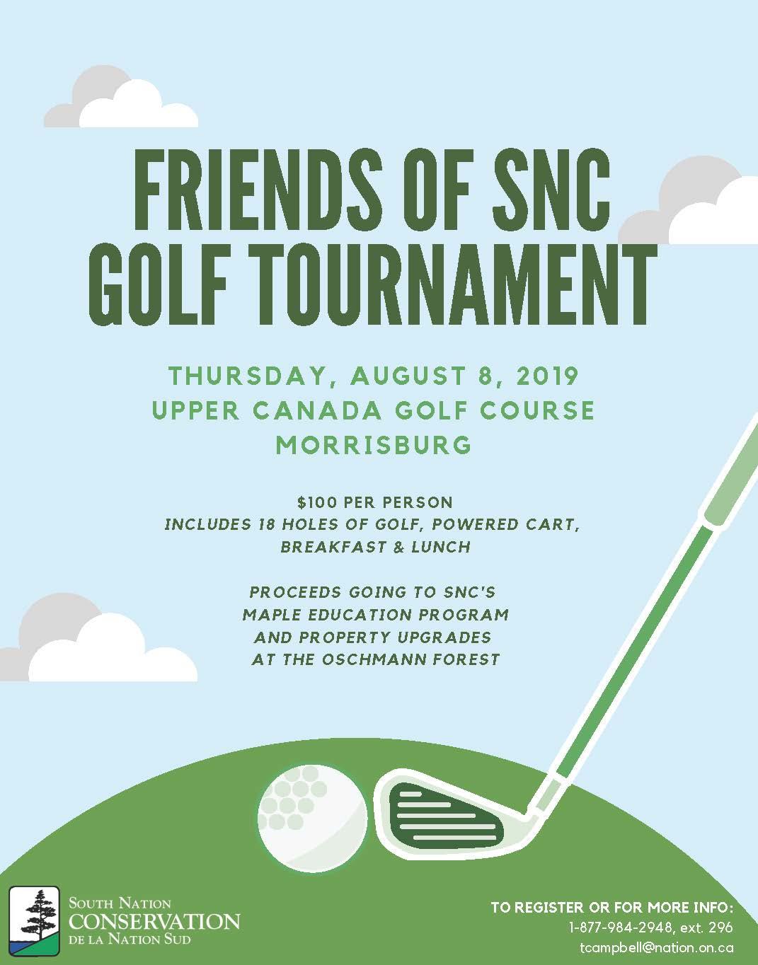 Friends of SNC Golf Tournament @ Upper Canada Golf Course | Morrisburg | Ontario | Canada
