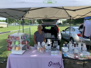 Farmer's Market booth: Scentsy [Warmers, Scented Wax]