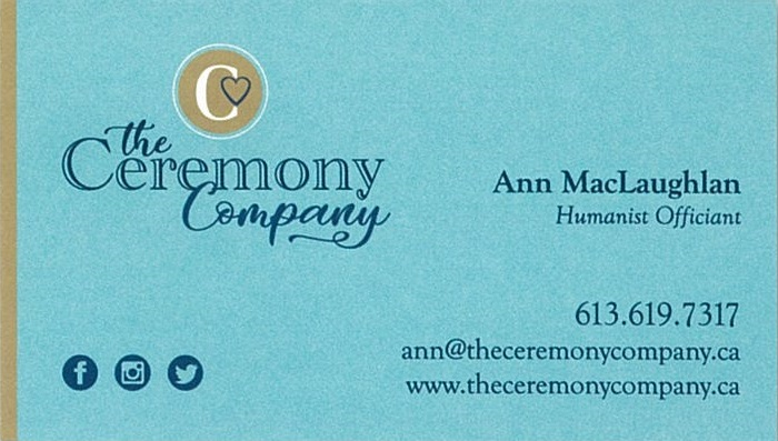 The Ceremony Company business card