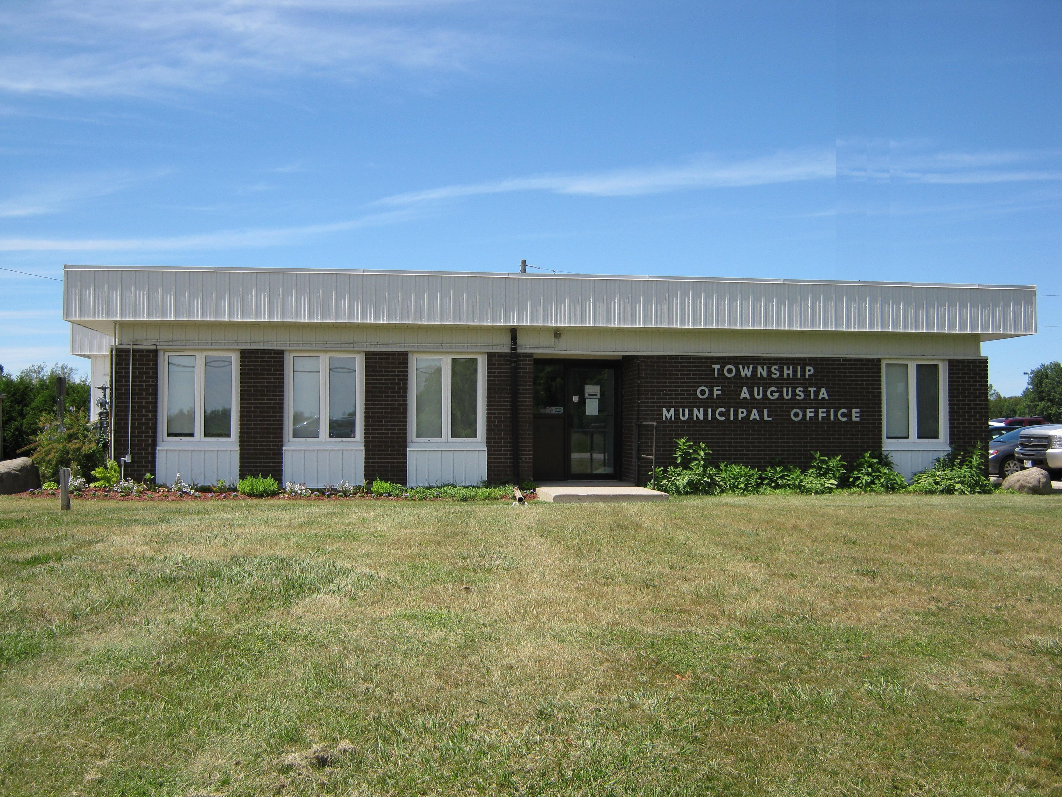township office in Maynard circa 2018
