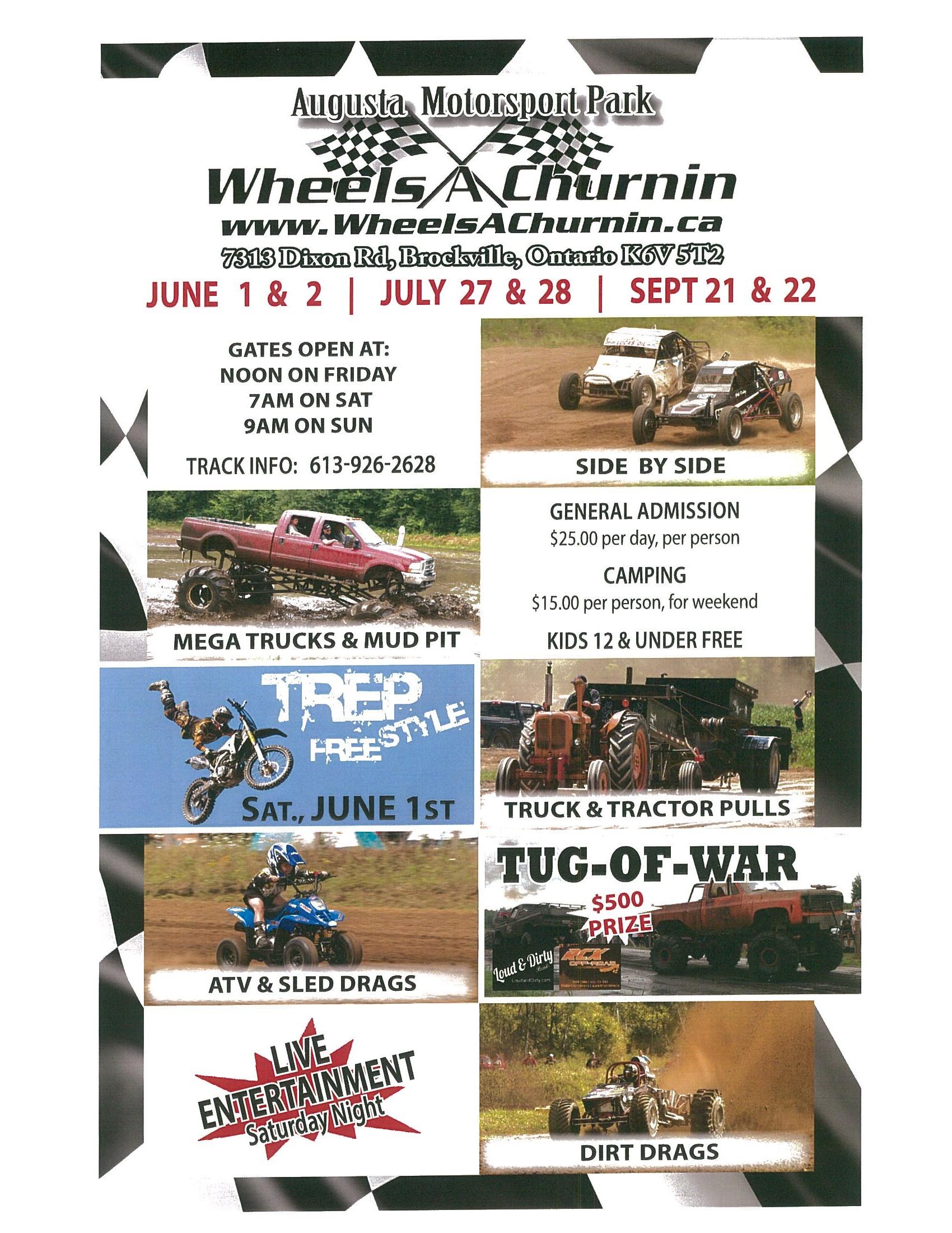 Wheels A Churnin @ Augusta Motorsport Park | Brockville | Ontario | Canada