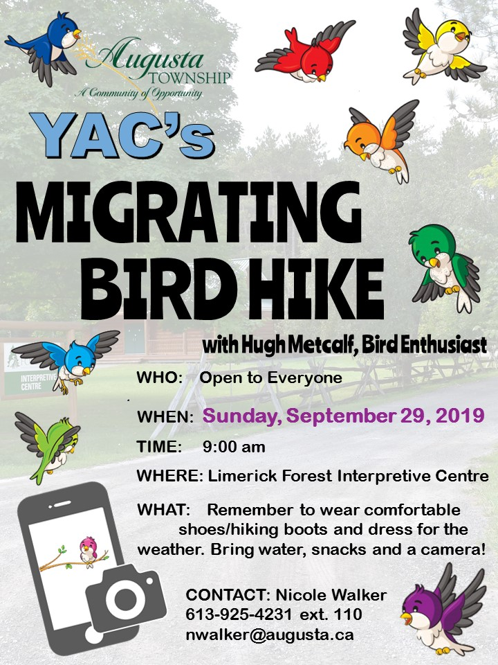 Migrating Bird Hike @ Limerick Forest Interpretive Centre | Oxford Station | Ontario | Canada
