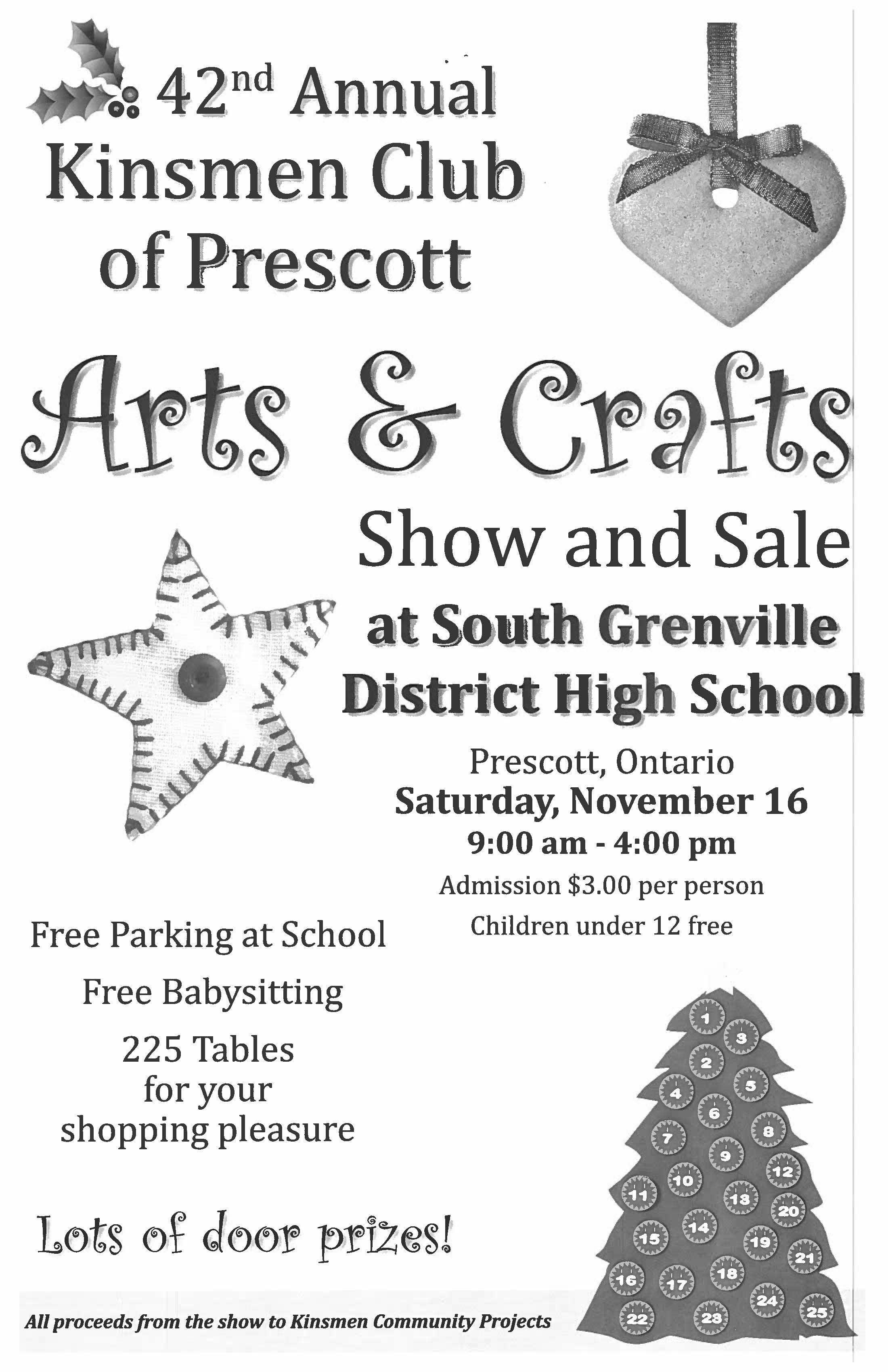 Arts & Crafts Show & Sale @ South Grenville District High School | Prescott | Ontario | Canada