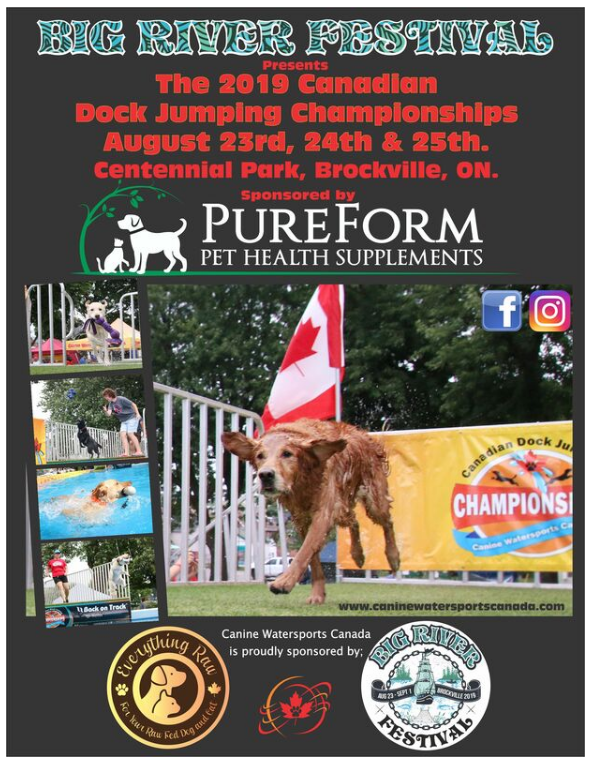 Canine Watersports - Dock Jumping Event @ Hardy Park | Brockville | Ontario | Canada
