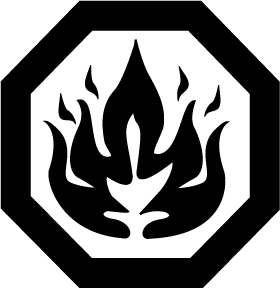 flammable label logo