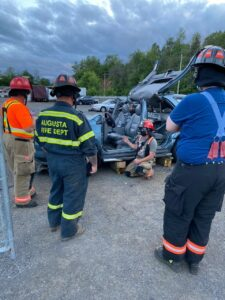 firefighters training on car extractions