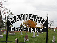 Maynard cemetery sign