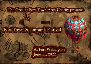 fort town steampunk festival logo