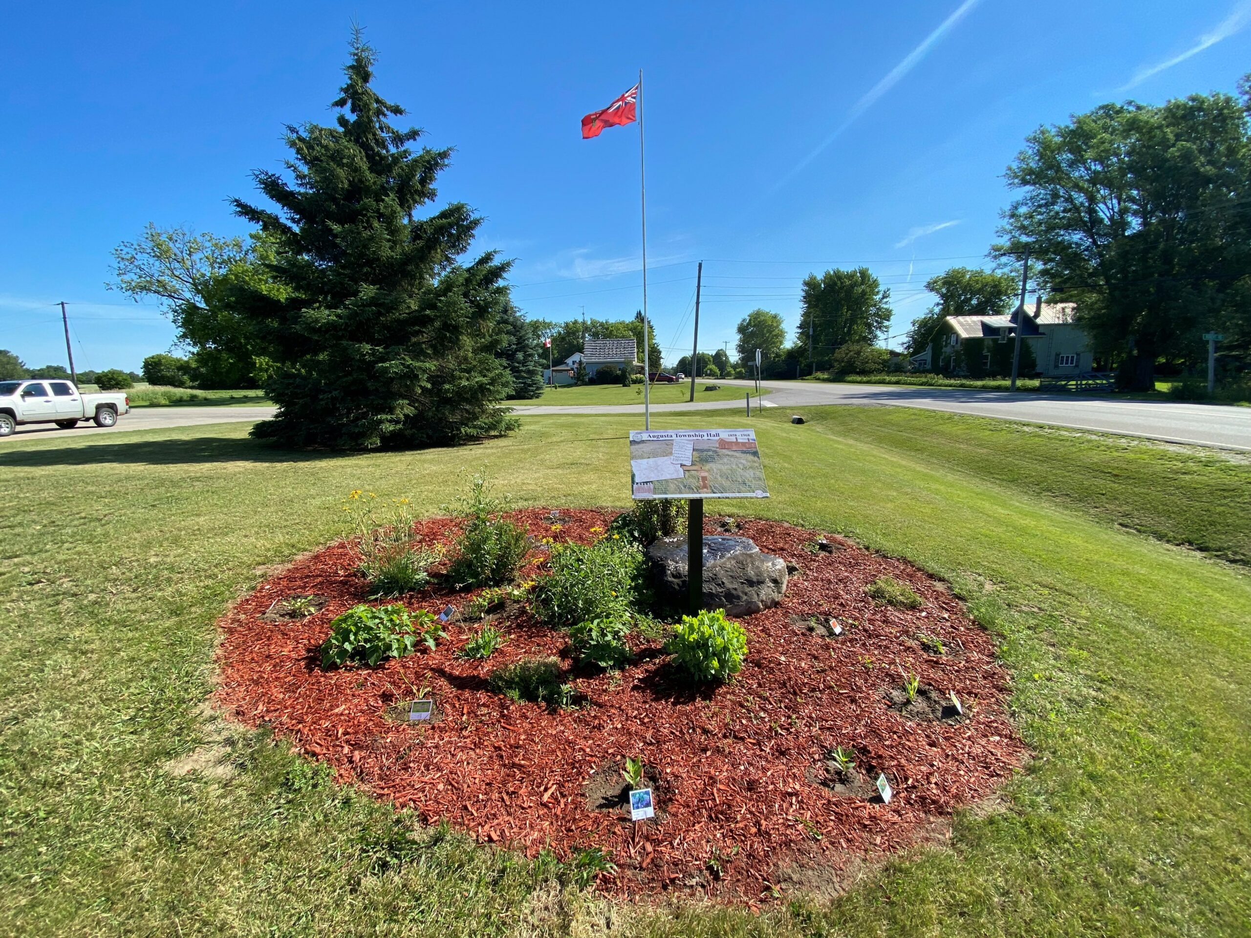 pollinator garden in front of the township office in Maynard