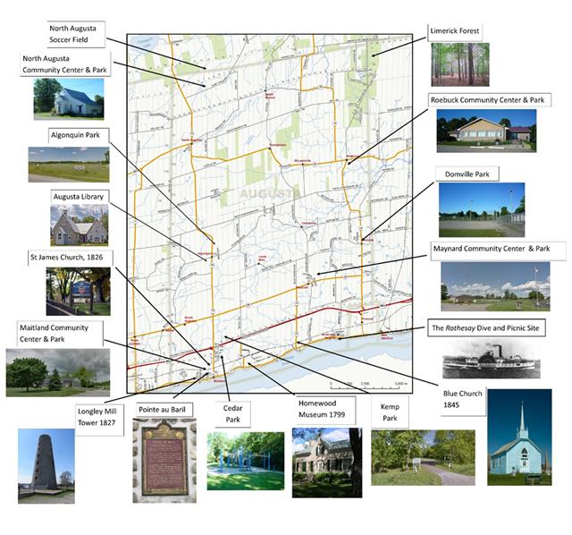 Recreation in Augusta Map
