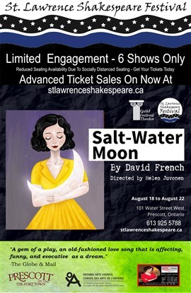 "st. lawrence shakespear festival, ""Salt Water Moon"" play poster"