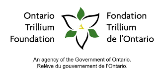 ontario trillium foundation logo with a picture of a white trillium in the middle